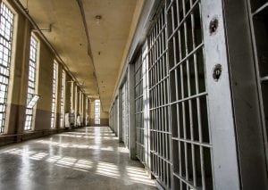 A Prison Hallway for article: Hemp Legalization Amendment Bans People With Drug Convictions From Hemp Industry